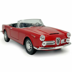 1:24 Vintage 1960 Alfa Romeo 2600 Spider Model Car Diecast Collectable Red Gift