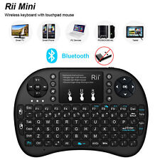 New Rii mini i8+ BT Bluetooth Wireless Black Keyboard for Computer Laptop Tablet