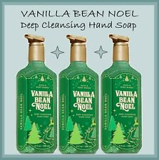 3 Bath & Body Works - VANILLA BEAN NOEL Deep Cleansing Hand Soap LOT Sealed NEW