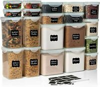 WIDE DEEP Food Storage Containers - Plastic Containers 40pc (Set of 20) $89.99
