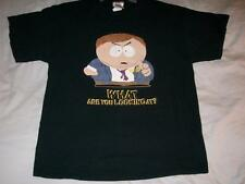 South Park Eric Cartman What are you looking at Black Tshirt Mens Large use 2005