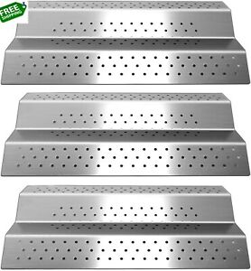 Stainless Steel Grill Heat Plate Shield Burner Cover Heat Tent Flame Tamer,