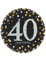 Gold Celebration 40th Birthday Party Plates