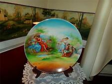 NIPPON VNTG. LOVERS VICTORIAN ITALY CHARGER PLATE CHERUB WOW! RARE PATTERN