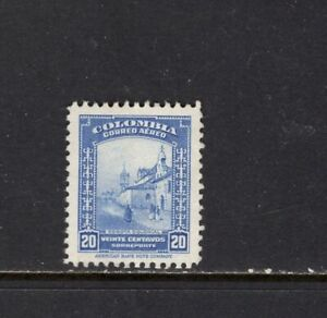 Colombia  1948 20c COLONIAL BOGOTA AIR MAIL MLH SC C154