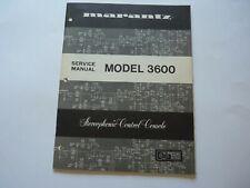 Service Manual Marantz Model 3600 Stereophonic Control Console ORIGINAL STUNNING