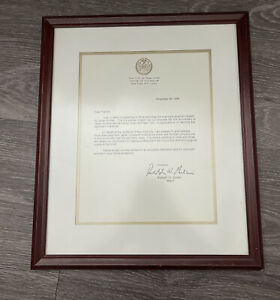 Mayor Rudy Giuliani New York City Letter Signed Signature Japan Airlines JAL NYC