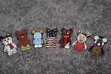 Disney Trading Pin-Vinylmation Lot of 7 Flag Pinnochio Turkey Train Snowman
