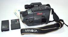 Minolta Master C-560 Video Camera With Remote Battery Strap & Manual Vintage