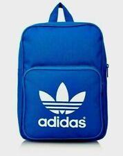 ADIDAS ORIGINALS CLASSIC Trefoil Backpack BP Bag Training Workout Blue AJ8528
