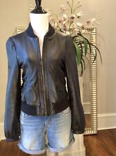 Candela NYC Women's Lamb Leather Jacket Black - M