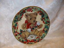 Franklin Mint Teddy'S First Christmas Plate Sarah Bengry Limited Edition