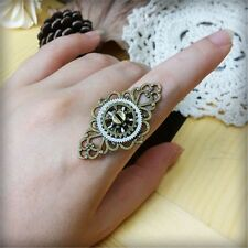 1pc Steampunk Lady Gear Floral Ring Punk Goth Vintage Unisex Adjustable Ring