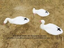 Sillosocks FLOCKSOX SNOW GOOSE Windsock DECOYS (SS1012FS) BY SILLOSOCK DECOYS