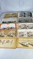 Lot of  10 Stereoview Cards, WWI, Jerusalem & Sears Roebuck Mixed Lot