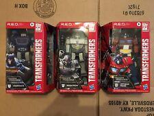 Transformers R.E.D. Optimus Prime Megatron Soundwave Lot Of 3 Walmart Exclusive