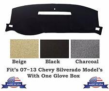 Fit's 2007~2013 Chevy Silverado One Glove Box Dash Cover Beige Color Carpet Mat