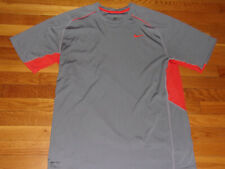 Nike Dri-Fit Short Sleeve Gray/Orange Jersey Mens Xl Excellent Condition