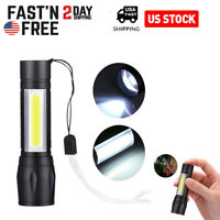 6000LM LED Torch USB Rechargeable Flashlight Police Zoomable Camping Hiking Lamp