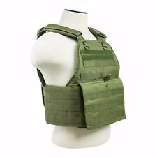 NcStar OD GREEN Police Military Tactical MOLLE / PALs Adj Plate Carrier Vest