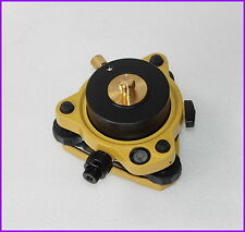 "Yellow Topcon type Tribrach W/ Optical & Rotating Adapter 5/8""x11 Mount GPS Lock"