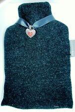 Wärmflasche von Fashy 2 l mit Lodenbezug + Herzanhänger 100 % Schurwolle Wolle