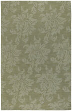 """Surya Green 3 x 8 Wool Floral Contemporary Runner Area Rug - Approx 2' 6"""" x 8'"""
