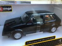 BURAGO 21089K 21089R VW GOLF MKI 1979 diecast model cars red or black 1979 1:24