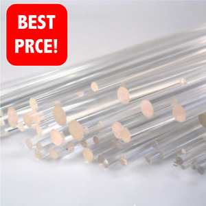 1000MM 5MM TO 20MM CLEAR ACRYLIC PERSPEX  ROD SHAFT BAR  VARIOUS LENGTHS 50MM
