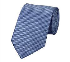Edel kariert glänzende Business Krawatte 8cm Blautöne Karomuster Fabio Farini