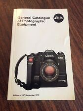 LEITZ - General Catalogue of Photographic Equipment September 1978 15th Edition