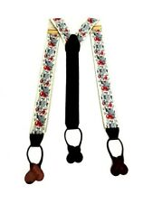Trafalgar Silk Leather Rare Suspenders Braces Fox Hunt Equestrian Tally Ho