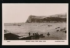 IOM Isle of Man Port Erin BRADDA HEAD and harbour c1900s? RP PPC by Valentine