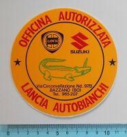 STICKER VINTAGE ADESIVO AUTOCOLLANT OFFICINA LANCIA ORIGINALE ANNI'80 11x11 cm