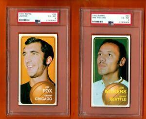 Jim Fox #98 1970 Topps Basketball Card - Graded PSA 6 - ONE CARD .