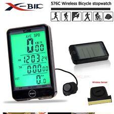 Inalámbrico Bicicleta Velocímetro Cuentakilómetros BICI Ciclismo LCD Computadora