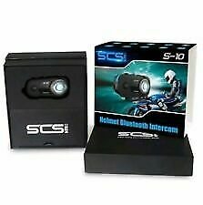 SCS S-10 Helmet Bluetooth Intercom Camera Video Motorcycle Motorbike Easy Fit