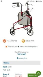 Tuff care 3 wheel freedom cart  Folding Walker (Rolling with brakes) Sm-Med. New