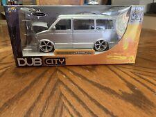 Dub City 2001 Chevy Astro Van Silver 1/24 Scale Jada Toys