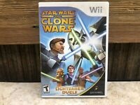 Star Wars: The Clone Wars Lightsaber Duels - Nintendo Wii - NO MANUAL -  TESTED