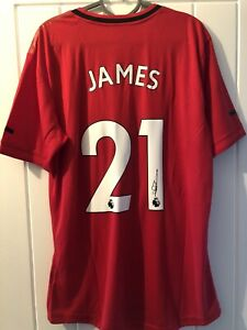 DANIEL JAMES  - SIGNED MANCHESTER UNITED SHIRT 19/20, WALES - SWANSEA CITY