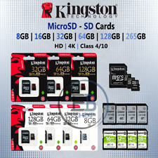 Kingston Micro SD Card 8gb 16g 32gb 64gb 128gb Memory Cards Fast Read Write lot
