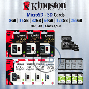 Kingston Micro SD Card 8gb 16g 32gb 64gb 128gb Memory Cards Fast Read Write lot