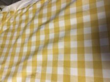 FRENCH LENSEIGNE DU BIEN DORMIR TWIN BED SKIRT,FRENCH YELLOW&WHITE CHECK 33X 63""