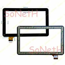 "Vetro Touch screen Digitizer 10,1"" ADJ Style TAB 10.1 400-00056 3G Nero"
