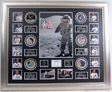 More details for eugene gene cernan signed framed display aftal rd coa apollo 17 last man on moon