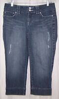 ANA A New Approach Women's Blue Capri Denim Jeans Size 8