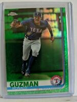 2019 Topps Chrome RONALD GUZMAN Green parallel #82/99 Texas Rangers