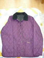 GIRLS BARBOUR QUILTED JACKET PURPLE AGE 12 TO 13 HORSE RIDING OUTDOORS
