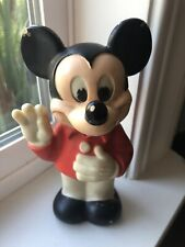 """New listing Vintage 1978 Mickey Mouse Figure Squeeze Toy Gabriel 6.5"""" Disney Figurine Topper"""